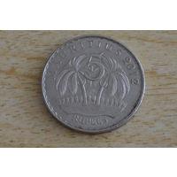 Маврикий 5 рупий 2012