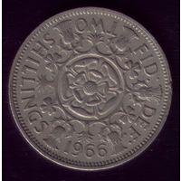 2 шиллинга 1966 год Великобритания