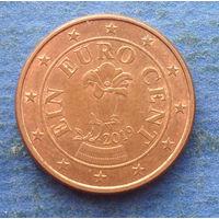 Австрия 1 евроцент 2019