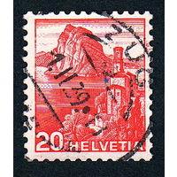 26: Швейцария, почтовая марка, 1936 год, номинал 20с, SG#375A