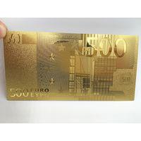 Золотая банкнота 500 евро. распродажа
