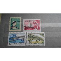 Корабли, парусники, морской флот, транспорт, техника, мосты, марки, Вьетнам