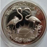 Багамские 2 доллара 1975 г