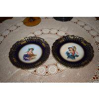 2 антикварные тарелки Лимож