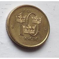 Швеция 10 крон, 1991 4-6-26