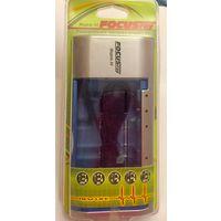 Зарядное устройство для аккумуляторов AAA, AA, C, D, 6F22. FOCUSray 88. (Батареек разных размеров, пальчиковых)