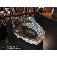 Умывальник (мойка, раковина), чаша для фруктов из натурального камня, размер 47*30 см.