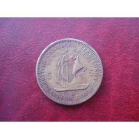 5 центов 1965 год Восточные Карибы