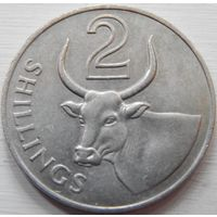 20. Гамбия 2 шиллинга 1966 год