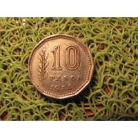 10 песо 1964 аргентина *757
