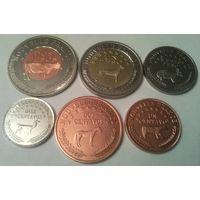 Королевство АРАУКАНИЯ и ПАТАГОНИЯ годовой набор 2013 года-6 монет от 1 сентаво до 2 песо