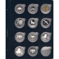 Лист для монет в капсулах (синие) 37 мм
