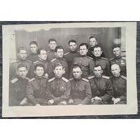 Фото группы советских офицеров. Уфа 1946 г. 8х11.5 см.