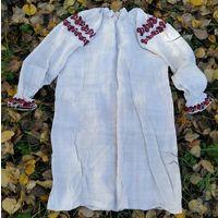 Сорочка домотканая льняная (рубашка, вышиванка), вт.пол. 1900-х гг.