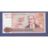 Банкнота Бразилия 50 крузадо (1986-88) UNC ПРЕСС