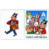 "Чехия 2010 г.  Комикс 'Четверка""  Сцепка марка + купон *"