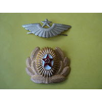 Комплект кокард о/с ВВС, ВДВ СССР (алюминий)