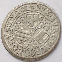Австрия, 3 крейцера ND (без указания года), Leopold/ Леопольд (1619-1625), КМ# 238
