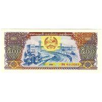 Лаос, 500 кип 1988 года, DA 8413262, UNC