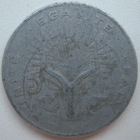 Джибути 5 франков 1977 г.