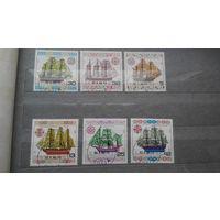 Корабли, парусники, морской флот, транспорт, техника, марки, Болгария, 1986