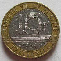 Франция, 10 франков 1989 г