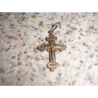 Крестик серебряный православный