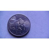 США 25 центов 2008г ALASKA (P)  распродажа
