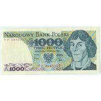 Польша, 1000 злотых 1982 год.