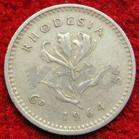 6944:  5 центов 1964 Родезия