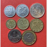 Литва, 8 разных монет