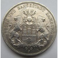 3 марки 1908 J Гамбург с блеском