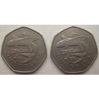 Барбадос 1 доллар 1988, 1989 гг. Цена за 1 шт. (gl)