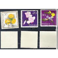 Польша Флора (сборка, 6 марок, см. внутри)