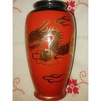 Японская ваза с золотым драконом 15,5 см