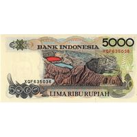 Индонезия, 5 000 рупий, обр. 1992 г., UNC