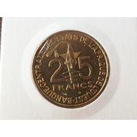 25 франков 2002 Западная Африка