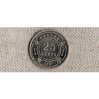 Белиз 25 центов 2007(Bh)