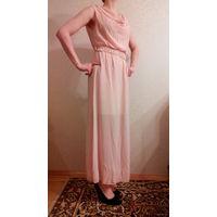 Красивое летнее платье нежно-розовое 42-44 р-р