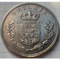 Дания 5 крон, 1961          ( К-10-3 )