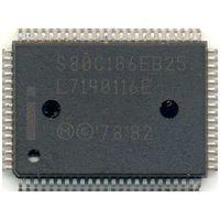 S80C186EB25 (25MHz, корпус QFP-80) - 16-бит ретро-процессор
