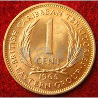 7620:  1 цент 1965 Восточные Карибы