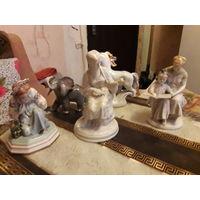 Фарфоровые статуэтки под реставрацию