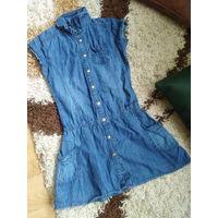 Платье джинс крутое на возраст 9-10 лет