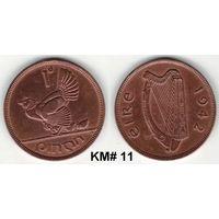 W: Ирландия, Республика, 1 пенни 1942 (57)