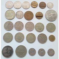 """Лот монет и жетонов 26 штук! Состояние от """"VF"""" до """"aUNC""""!!! С 1 рубля! Без МЦ!!!"""