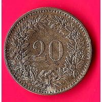 14-24 Швейцария, 20 раппенов 1970 г.