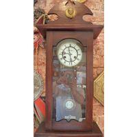 """Часы настенные """"LE ROI A PARIS"""" начала 20 века. оригинальный механизм. рабочие"""