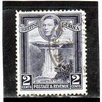 Британская Гайана. Mi:GY 177A. Водопад Кайтеер. Серия: Корольь Георг VI и местные сцены. 1938.