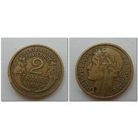 2 франка Франция 1938 год, KM# 886, 2 FRANCS - из мешка